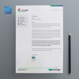 Creatipix Letterhead With Blue Concepts