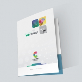 Creatipix Presentation Folder With Blue Concepts