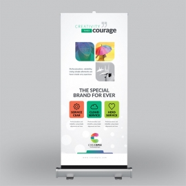 Creatipix  Roll-up Banner With Blue Concepts