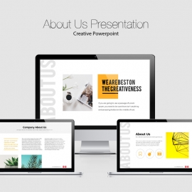 Creative About Us Powerpoint Presentation