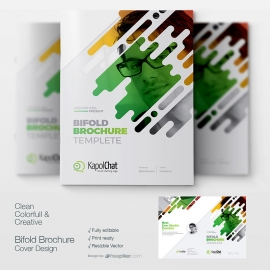 Creative Bi Fold Brochure Booklet Cover