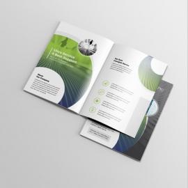 Creative BiFold Brochure With Green Black