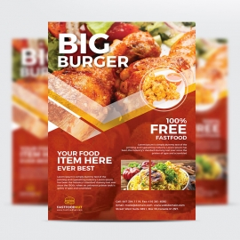 Creative Big Burger Business Flyer Design
