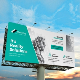 Creative Billboard Banner With Paste Accent