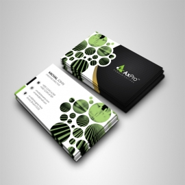 Creative Black Business Card With Cricle