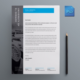 Creative Blue Business Letterhead