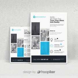 Creative Boxs Cyan Flyer Template
