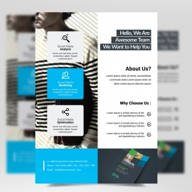 Creative Boxs Cyan Flyer Template