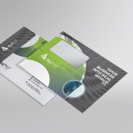 Creative Business  B5_Envelope With Green Black