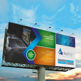 Creative Business Billboard Banner With Abstract