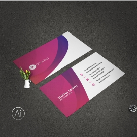 Creative Business Card With Abstract