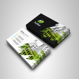 Creative Business Card With Brush Style