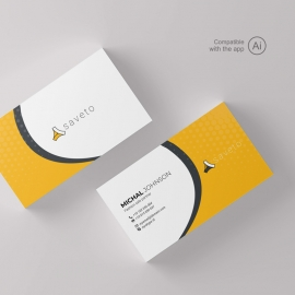 Creative Business Card With Yellow Accent