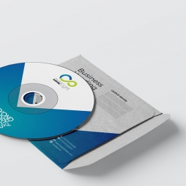 Creative Business CD Pack With Blue Accent