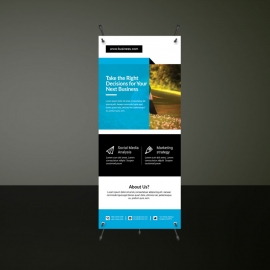 Creative Business Cyan Rollup Banners