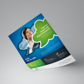 Creative Business Flyer With Blue Green Accent