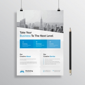 Creative Business Flyer With Box Design