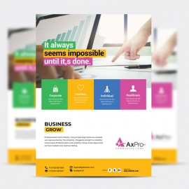 Creative Business Flyer With Boxs
