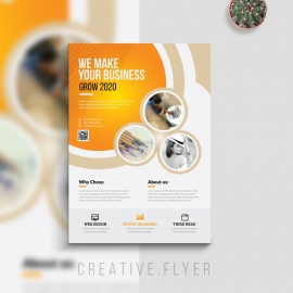 Creative Business Flyer With Cricle