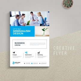 Creative Business Flyer With Cyan Accent