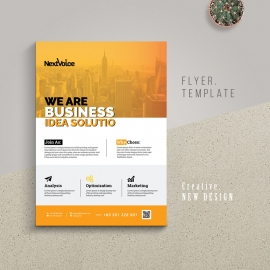 Creative Business Flyer With Orange Accent