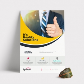 Creative Business Flyer With Yellow Accent