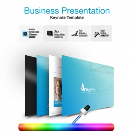 Creative Business Keynote With Axpro Presentation Template