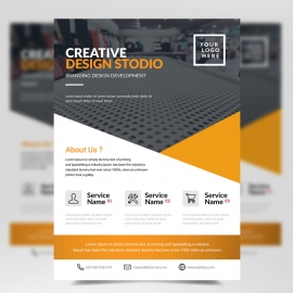 Creative Business Orange Flyer Template