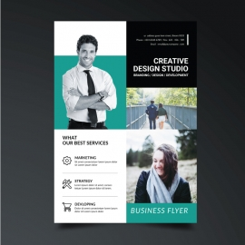 Creative Business Paste Boxs Flyer