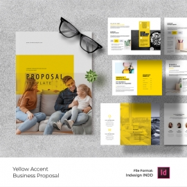Creative Business Proposal Template with Yellow Accent