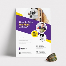 Creative Business With Purple Accent Flyer