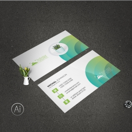 Creative BusinessCard With Green Accent