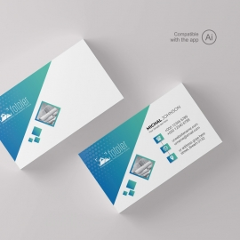 Creative BusinessCard With Paste  Accent