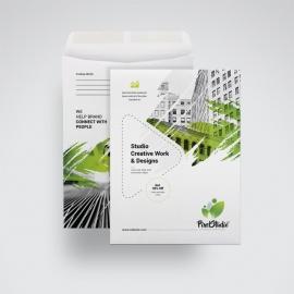 Creative C4 Envelope Catalog With Brush Style