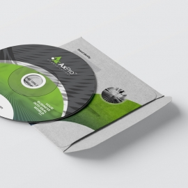 Creative CD Pack With Green Black Accent
