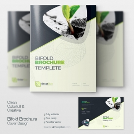 Creative Clean Bifold Booklet Cover Design