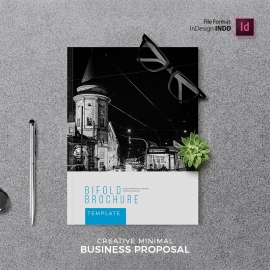 Creative Clean Bifold Brochure Template