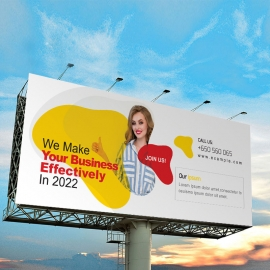Creative Clean Billboard Sinage