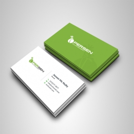 Creative Clean Business Card With Green Accent
