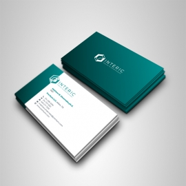 Creative Clean Business Card With Paste Accent