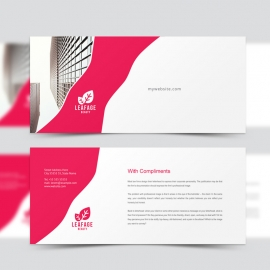 Creative Clean Business Compliment Card