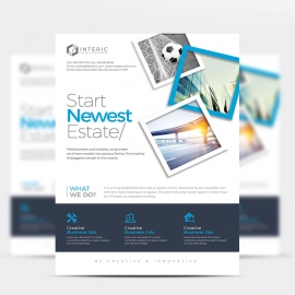 Creative Clean Business Flyer With Blue Accent