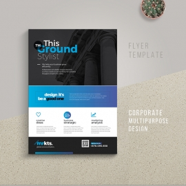 Creative & Clean Business Flyer With Blue Accent