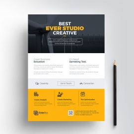 Creative Clean Business Flyers Design
