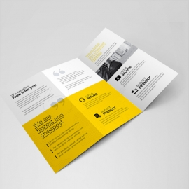 Creative Clean Corporate Square Trifold Brochure