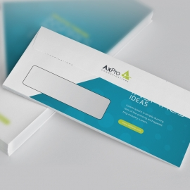 Creative Clean DL Envelope Commercial With Blue Accent