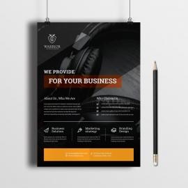 Creative Clean Flyer Black Design