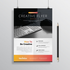 Creative Clean Flyer Red Yellow Color