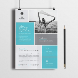 Creative Clean Minimal Boxes Flyer
