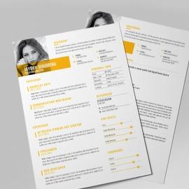 Creative Clean Resume CV Design